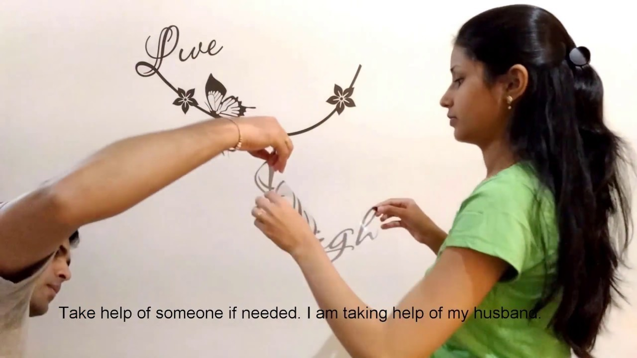 How To Apply Wall Stickers On Wall | Easy Installation