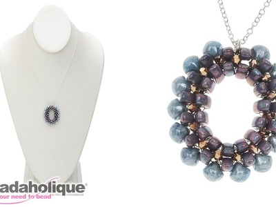How to Bead Weave the Scarborough Necklace with 3-Hole Cali Beads and Swarovski Crystal Bicones