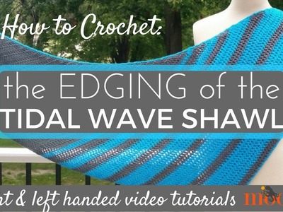 How to Crochet: Edging for the Tidal Wave Shawl (Left Handed)