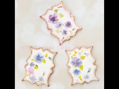 How to Decorate Hand Painted Pansy Cookies ????️????️????????