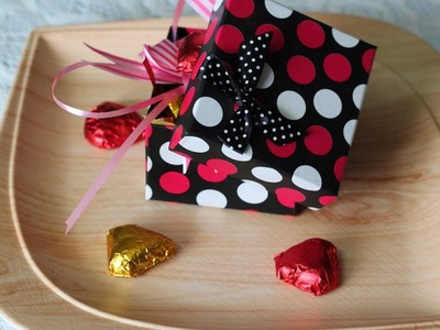 How to Decorate Home made Chocolates with Ribbons for Gifting  -  Very Easy