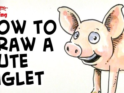 How to draw a cute little piglet - step by step