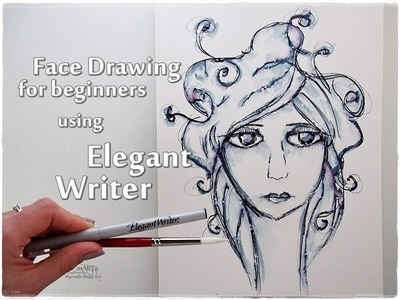 How to Draw a Face with Elegant Writer Technique for Beginners ♡ Maremi's Small Art ♡
