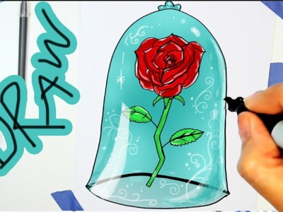 How to draw a rose from beauty and beast