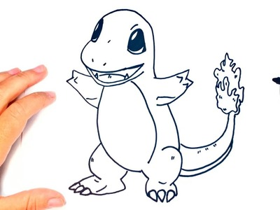 How to draw Charmander | Charmander Pokemon Easy Draw Tutorial