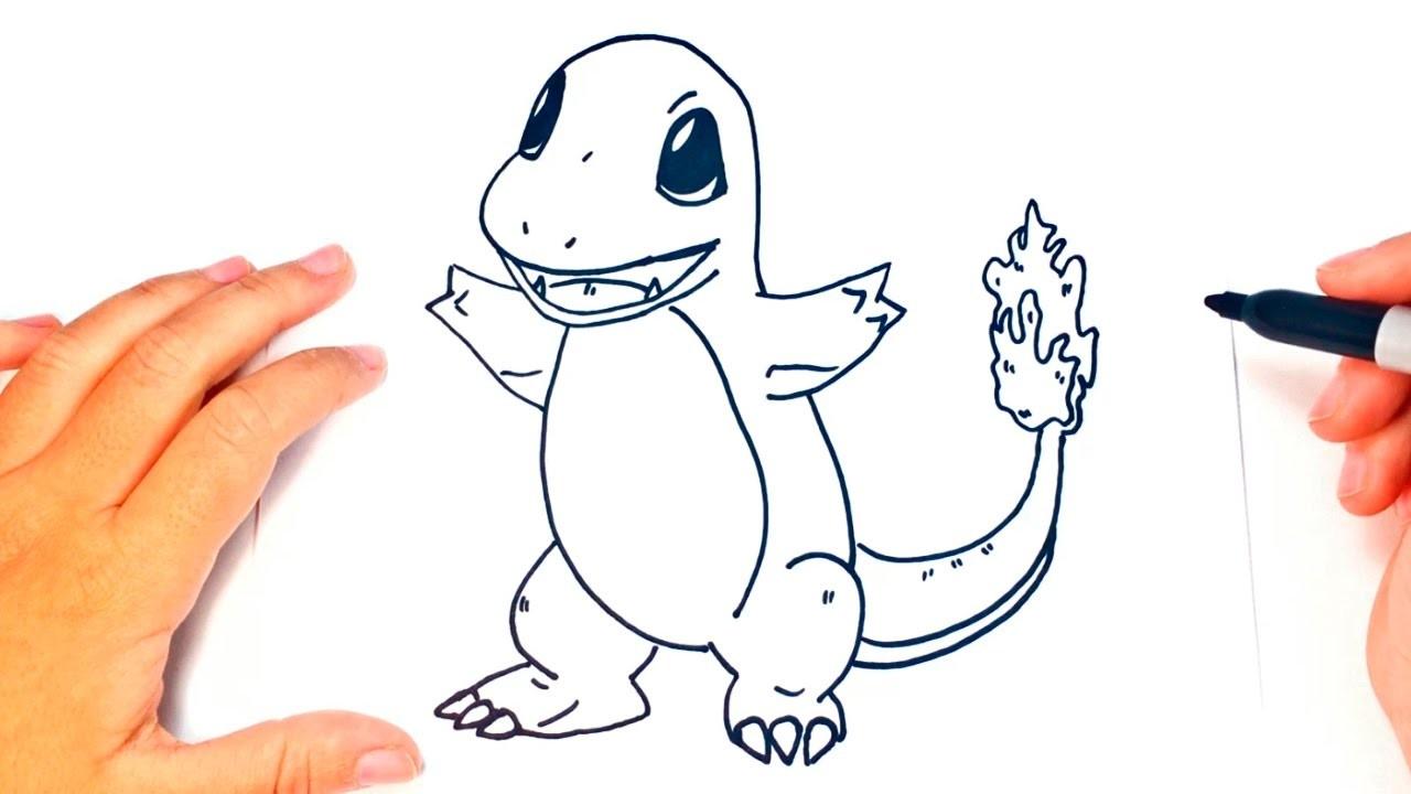 How To Draw Charmander Charmander Pokemon Easy Draw Tutorial