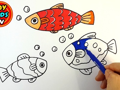 How to draw Fish for kids | Painting for kids