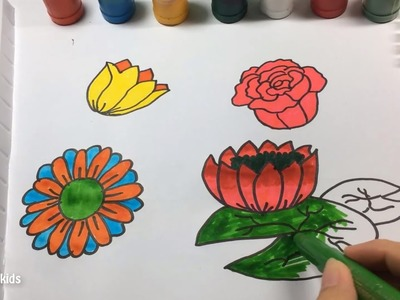 Coloring pages dreamworks trolls coloring videos for Teach me how to draw a flower