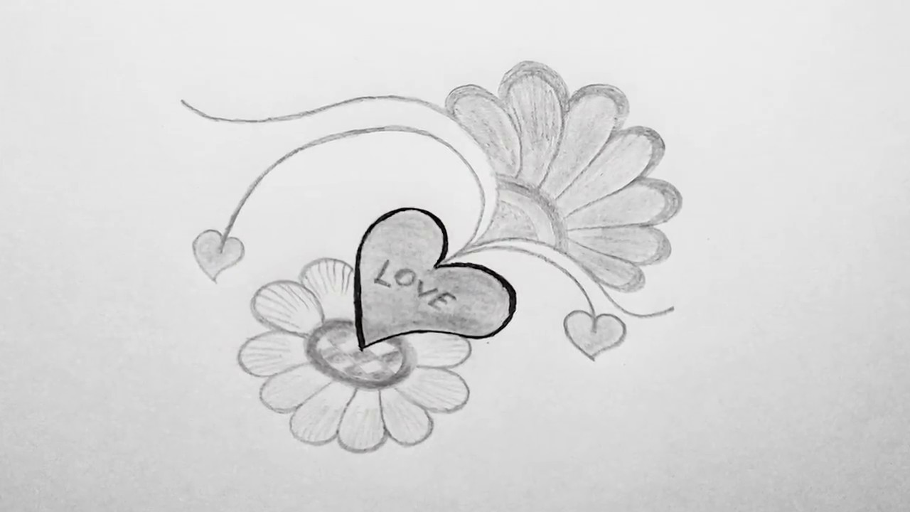 How To Draw Heart Shape Love Or Heart Drawing Love Amazing