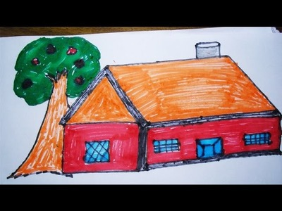 How to Draw House For Kids | Easy and Step by Step