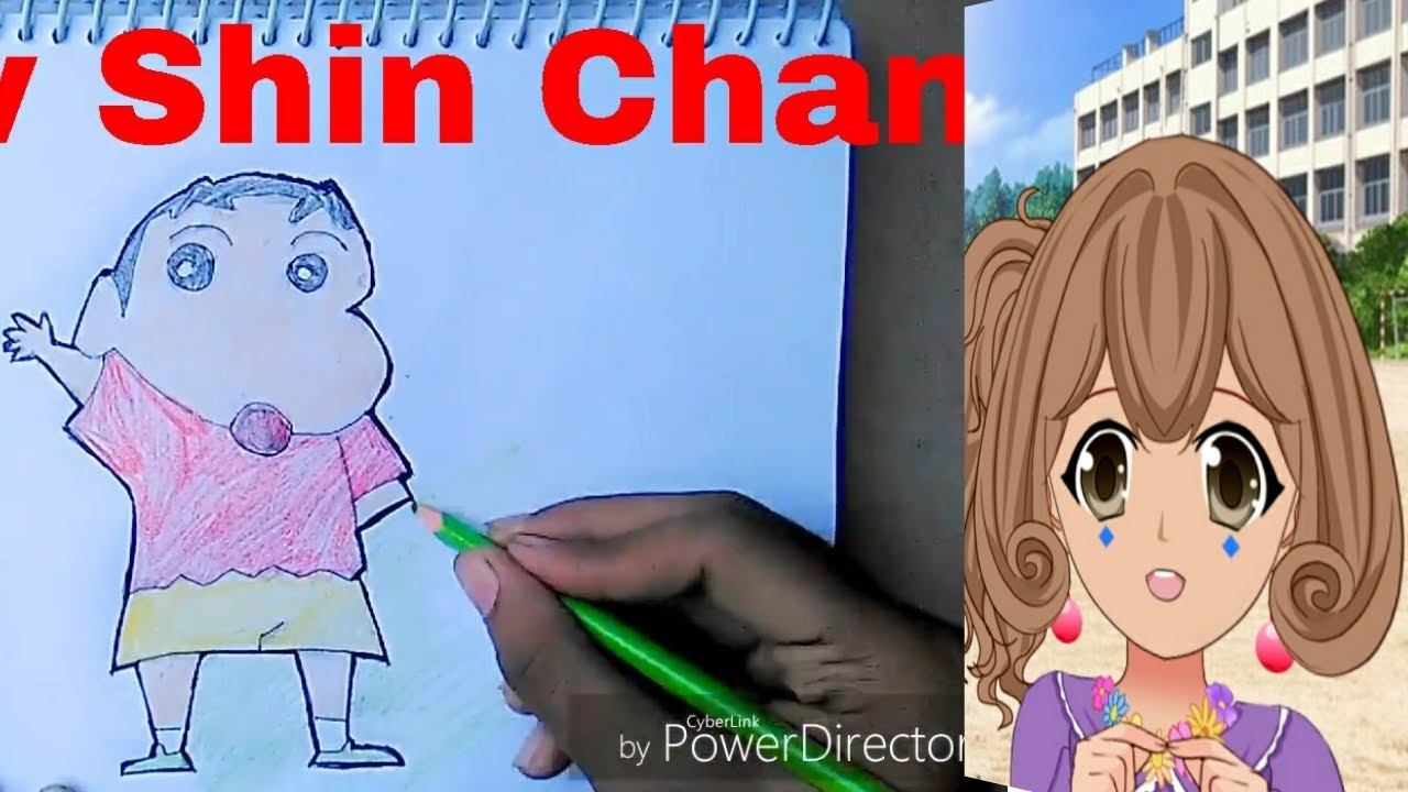 How To Draw Shin Chan Hungama Cartoon Character Step By Step Easy