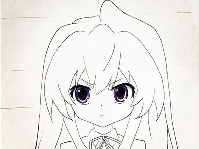 How to draw Taiga (Toradora)