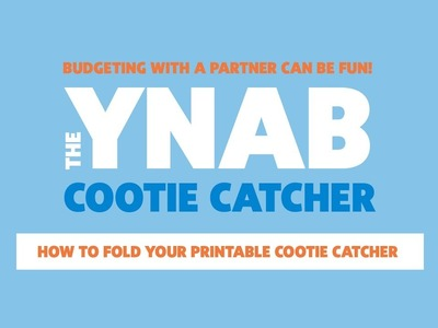 How To Fold Your Printable YNAB Cootie Catcher