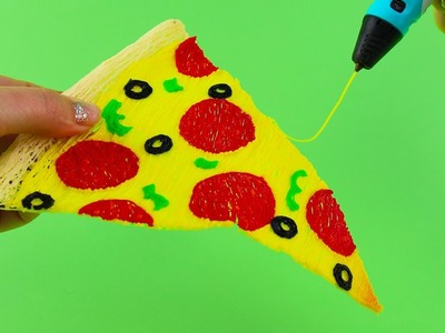How to Make 3D Pizza Slice - 3D Printing Pen Creation