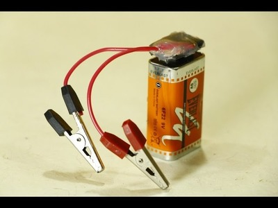How to make 9 volt battery clip at home