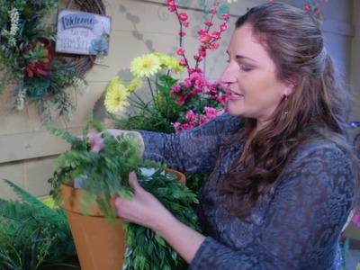 How to Make a Beautiful Silk Flower Pot - Carolina Pottery