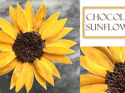 How to Make a Chocolate flower | Sunflower Style