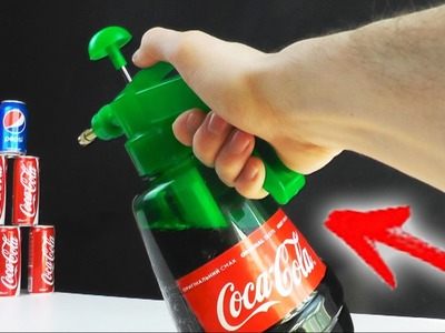 How to Make a Coca Cola water Gun at Home - Very Powerful. Easy Way - Tutorial