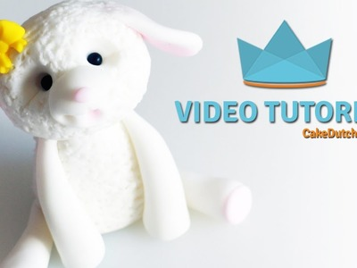 How to make a cute Lamb Cake Topper - Cake Decorating Tutorial