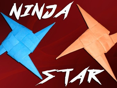 How to Make a Four Bladed Paper Ninja Star (Shuriken) - New and Easy Method .