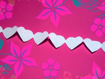How to make a Heart garlands of paper with their hands