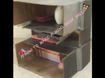 How to make a mini book shelf from a cardboard box
