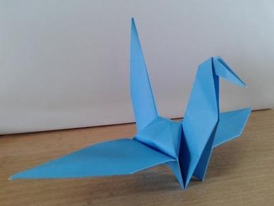 How to make a origami paper bird crane
