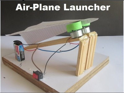 How to make a paper airplane launcher at home ( fast and easy )