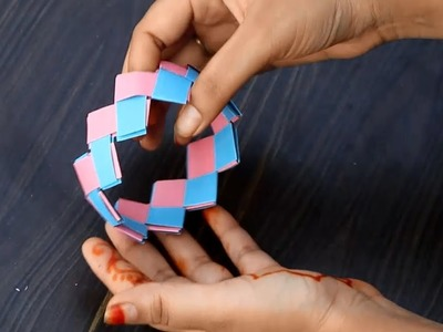 How To Make a  Paper Bracelets - Easy Paper Crafts