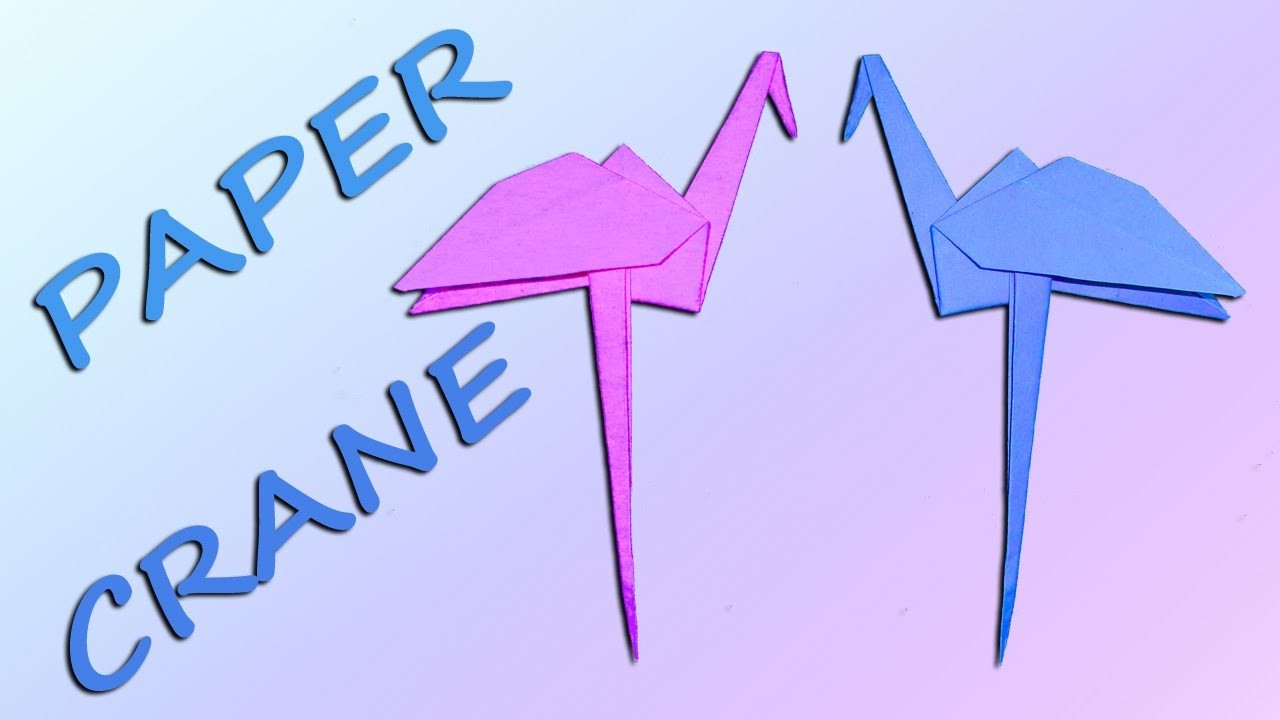step by step how to make a paper crane
