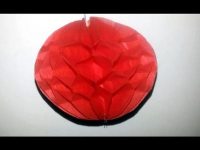 How to make a Paper Honeycomb Ball Diya