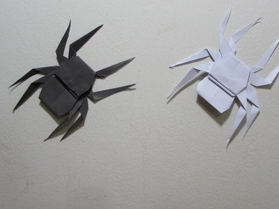 How to make a paper Spider - Easy Tutorial (Origami)