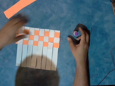 How to make a placemat.paper-rug or.chess board