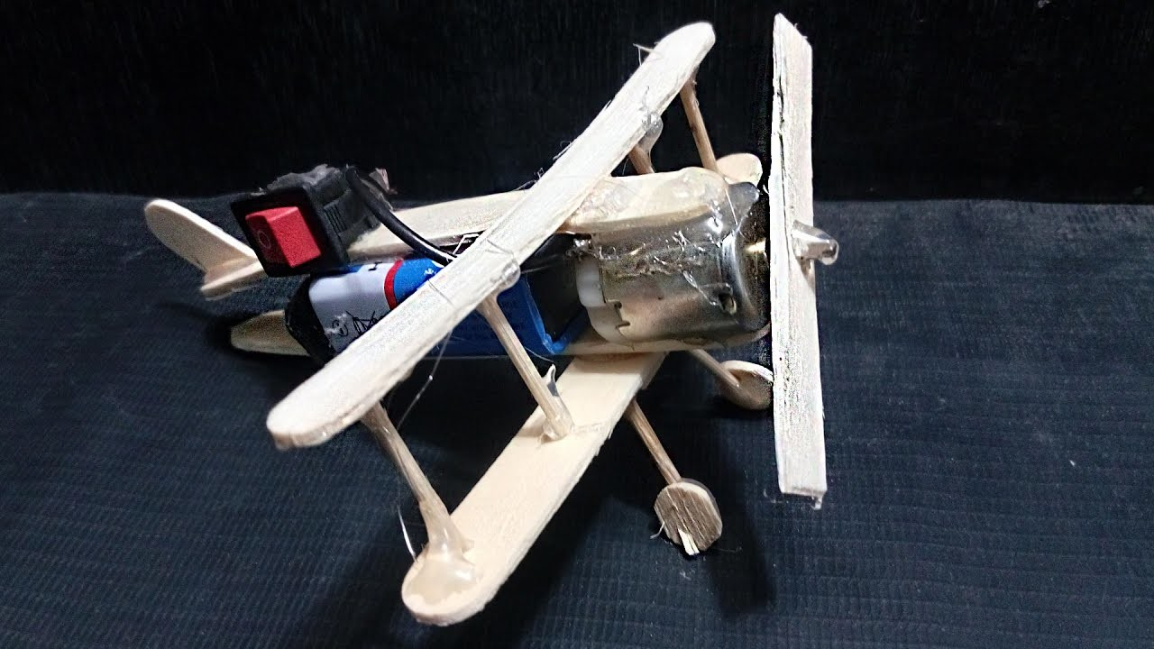 How To Make a Plane With DC Motor - Toy Plane