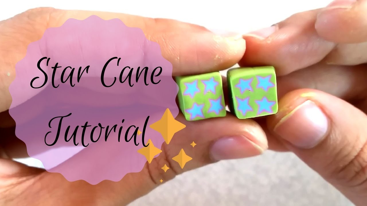 How To Make a Star Cane In Polymer Clay