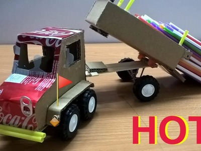 How to Make a Truck with Coca Cola and Carton - Toy Trucks DIY (Easy & Simple).