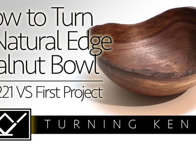 How to Make a Walnut Natural Edge Bowl – First Turning on Jet 1221 VS Wood Lathe