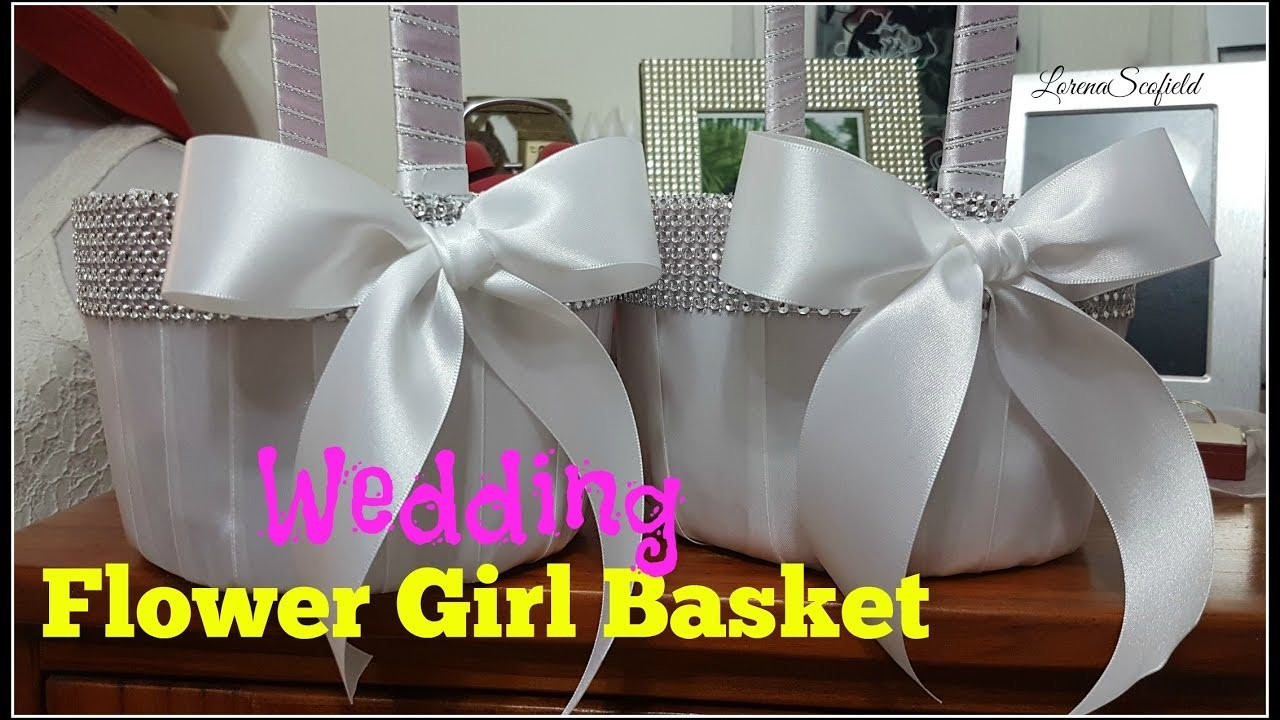 How To Make A Basket For Flower Girl : How to make a wedding flower girl basket my crafts and