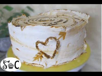 How to make an easy ASPEN or BIRCH BARK TREE CAKE | Sweetwater Cakes