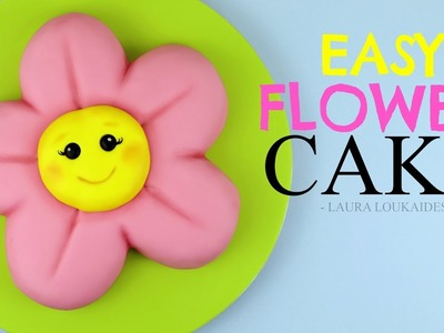 How to Make an Easy Kawaii Flower Cake - Laura Loukaides