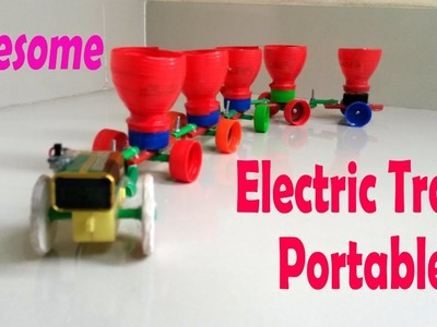 How to make an electric portable train for kids | Very cool train you must love it