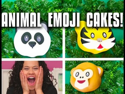How To Make ANIMAL EMOJI CAKES For EARTH DAY! Go WILD For Banana Cake & Chocolate Buttercream!
