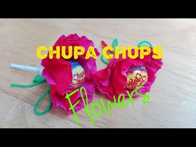 How to Make Chupa Chups Flower in 5 minutes EASY
