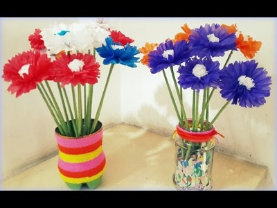 How to Make Daisy Flower by Tissue Paper