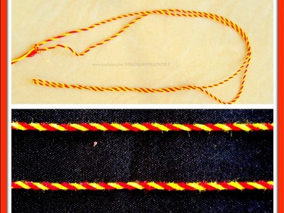 How to make Double Color Twisted Dori | Cord DIY || AWW # 282 ||