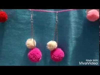 How to make easy diy pom pom earrings