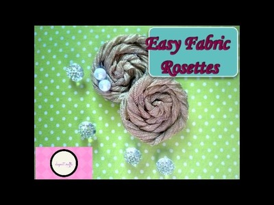 Purse, How to make fabric rose - Rosette, How to make fabric