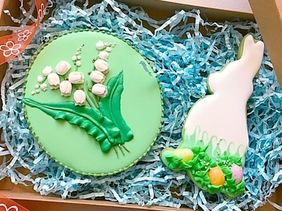 How to make fondant lily of the valley with tulip flower mold.????Cookie gift