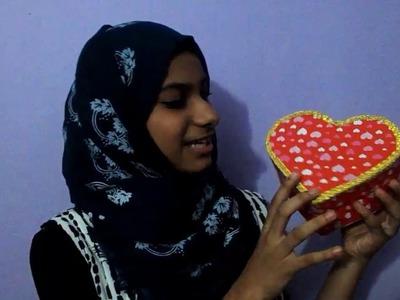 How to make heart shape box.