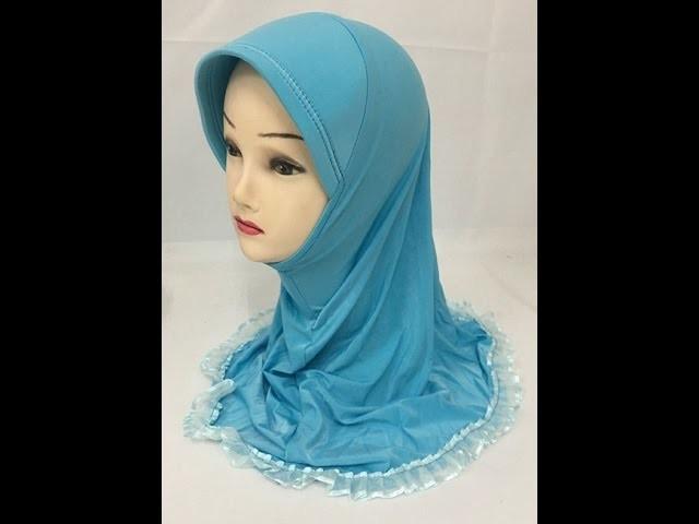 How to make hijab or namaz hijab tutorial (English subtitles)